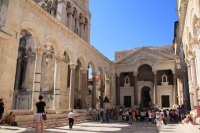 The main courtyard of Diocletian's palace, where he would make his slaves bow down and worship him
