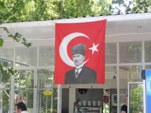 Kemal Attaturk is still very much revered here.