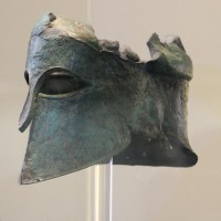 The helmet worn by Militiades, the Athenian General, at the battle of Marathon