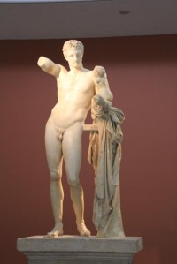 'Hermes of Praxiteles', one of the true masterpieces of ancient Greek art. 330BC