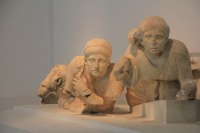 From the temple pediment.