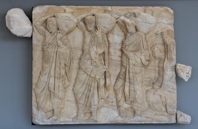 One of the few original metopes from the Parthenon